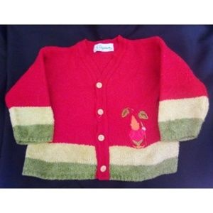 Adorable Clayeux Gnome Cardigan Made in France 4T